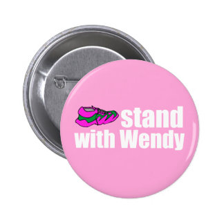 Soporte con Wendy Pin Redondo De 2 Pulgadas
