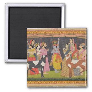 Soporte de elevación Govardhana de Krishna, del 'B Imán De Frigorifico