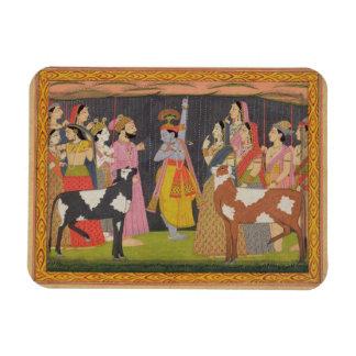 Soporte de elevación Govardhana de Krishna, del 'B Imanes