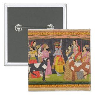 Soporte de elevación Govardhana de Krishna, del 'B Pin Cuadrado