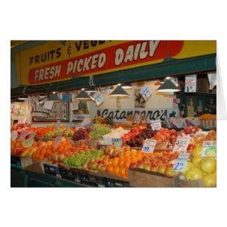 Soporte de fruta del mercado de lugar de Pike Felicitacion