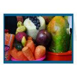 Soporte de fruta en el mercado de Cusco Tarjeta De Felicitación