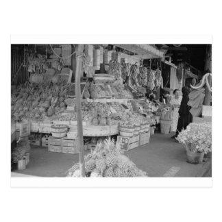 Soporte de fruta francés del mercado junio 1936.jp tarjeta postal