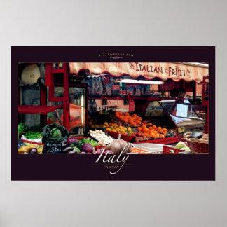 Soporte de fruta italiano póster