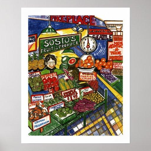 Soporte de fruta póster