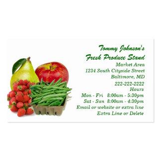 Soporte de fruta vegetal de encargo del mercado de tarjetas de visita