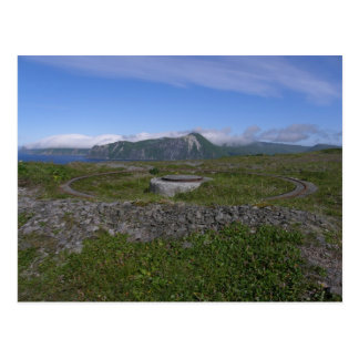 Soporte de la artillería de WWII, isla de Unalaska Tarjetas Postales