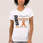 Soporte de la leucemia I junto a mi primo Camisetas