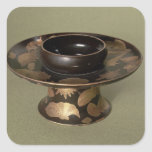 """Soporte de la taza con la decoración de """"Nashiji"""" Pegatina Cuadrada"""
