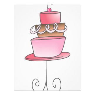 Soporte de la torta membretes personalizados