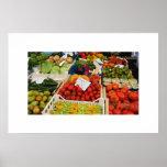 soporte de la verdura y de fruta poster