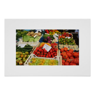 soporte de la verdura y de fruta póster