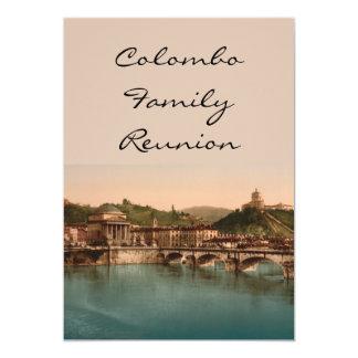 Soporte de los capuchones, Turín, Piamonte, Italia Invitación 12,7 X 17,8 Cm