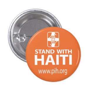 Soporte de PIH con el botón de Haití Pin Redondo De 1 Pulgada