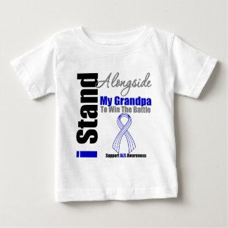Soporte del ALS I junto a mi abuelo T-shirts