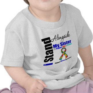 Soporte del autismo I junto a mi hermana Camisetas