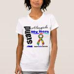 Soporte del autismo I junto a mi héroe Camiseta