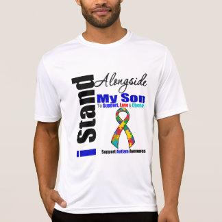 Soporte del autismo I junto a mi hijo Camisetas