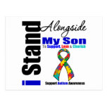 Soporte del autismo I junto a mi hijo Tarjetas Postales