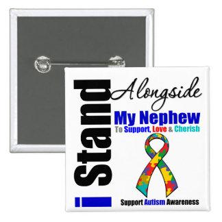 Soporte del autismo I junto a mi sobrino Pin Cuadrado