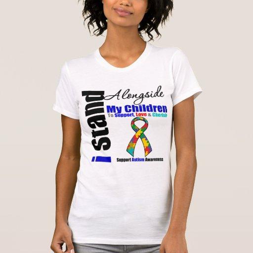 Soporte del autismo I junto a mis niños Camiseta