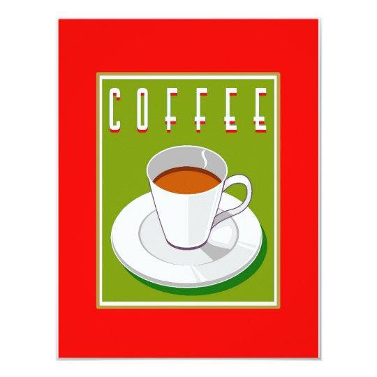 """Soporte del café invitación 4.25"""" x 5.5"""""""