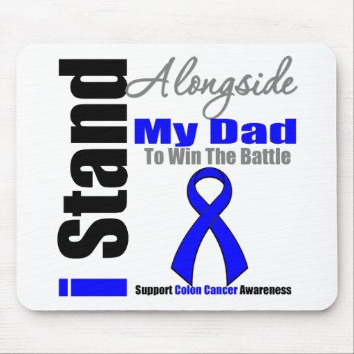 Soporte del cáncer de colon I junto a mi papá Alfombrilla De Ratones