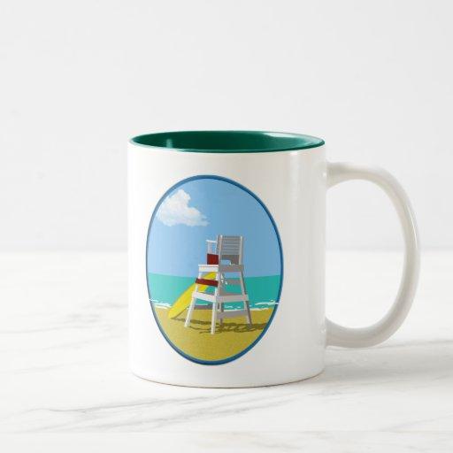 Soporte del guardia de vida taza de café