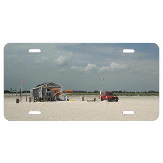Soporte del parasol de playa de Jones Placa De Matrícula