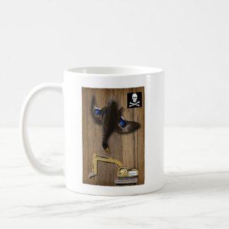Soporte del pato de las arenas de alquitrán de taza de café