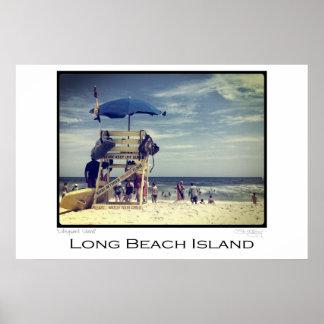 Soporte del salvavidas de la isla de Long Beach Poster