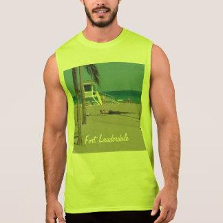 Soporte del salvavidas de la playa del pie Lauderd Camisetas Sin Mangas