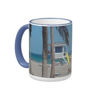 Soporte del salvavidas de la playa del pie Lauderd Taza A Dos Colores