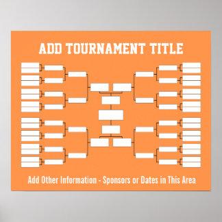 Soporte del torneo de los deportes póster