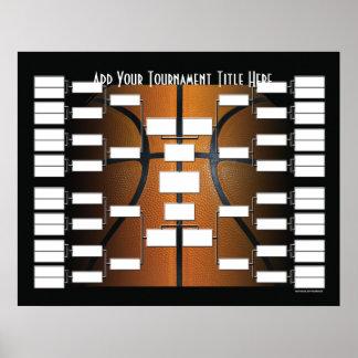 Soporte del torneo del baloncesto póster