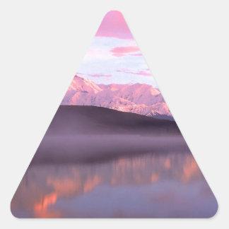 Soporte Denali del lago wonder de la puesta del Pegatina Triangular