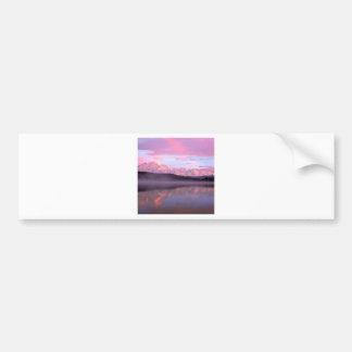 Soporte Denali del lago wonder de la puesta del so Pegatina Para Auto