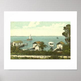 Soporte Dora, FL, casa barco Row, 1907 Poster