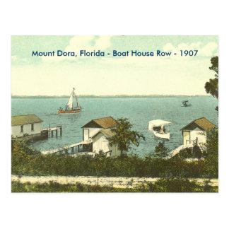 Soporte Dora, la Florida - fila de la casa barco - Tarjeta Postal