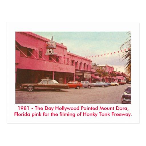 Soporte Dora, la Florida - rosa pintado Tarjetas Postales