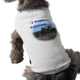 Soporte Evans Colorado del árbol de pino de Camisas De Mascota