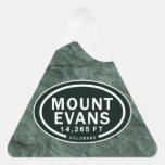 Soporte Evans pegatinas de la montaña de 14.265 Pegatinas Trianguladas Personalizadas