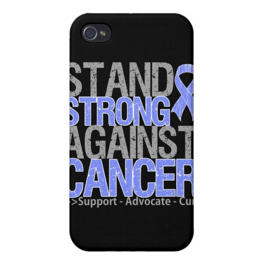 Soporte fuerte contra cáncer de estómago iPhone 4 funda