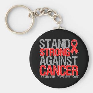 Soporte fuerte contra cáncer de sangre llavero redondo tipo pin