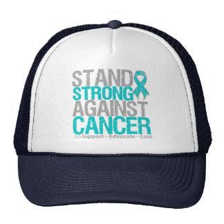 Soporte fuerte contra cáncer ovárico gorras