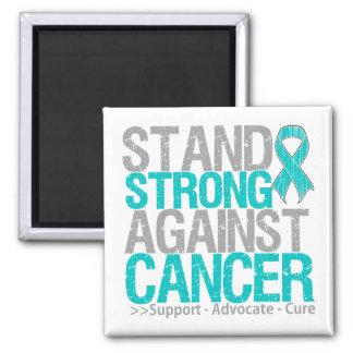 Soporte fuerte contra cáncer ovárico imán cuadrado