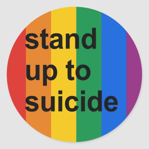 soporte hasta suicidio etiquetas redondas