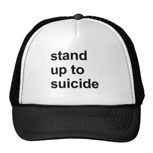 soporte hasta suicidio gorros