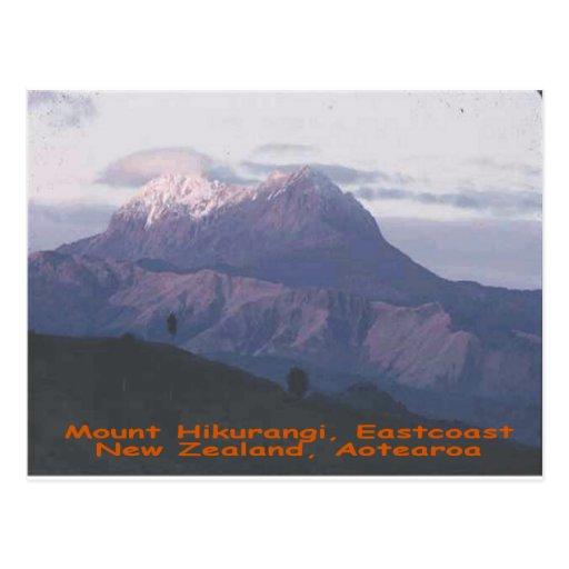 Soporte Hikurangi, Nueva Zelanda, Aotearoa Tarjeta Postal