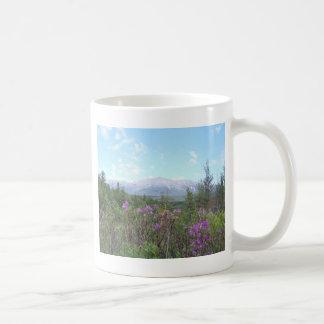 Soporte Katahdin y flores salvajes Taza De Café
